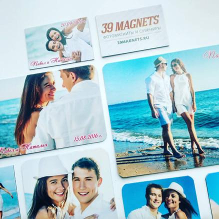Заказать магниты с фото свадебные