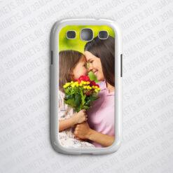 Чехол на Samsung Galaxy S3 с фото и надписью на заказ