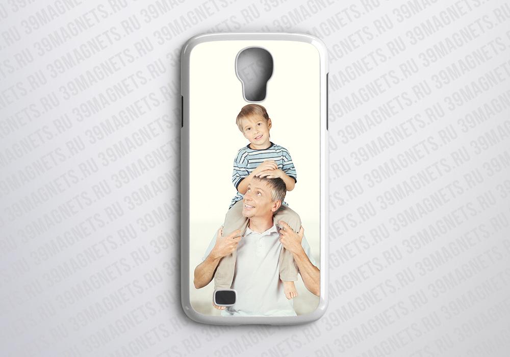 Чехол на Samsung Galaxy S4 с фото и надписью на заказ