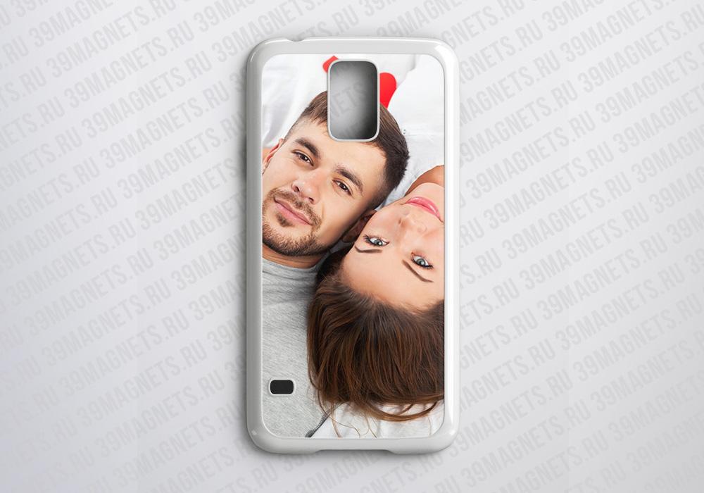 Чехол на Samsung Galaxy S5 с фото и надписью на заказ
