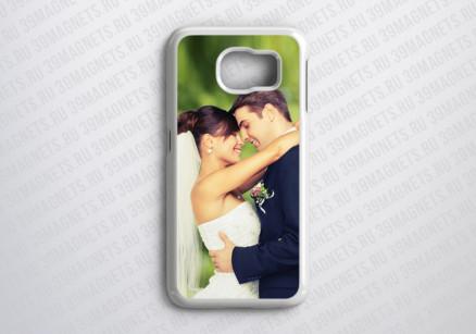 Чехол на Samsung Galaxy S6 с фото и надписью на заказ