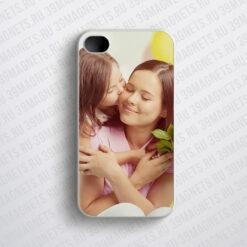 Чехол на Apple Iphone 4 с фото и надписью на заказ