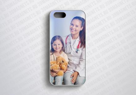 Чехол на Apple Iphone 5 с фото и надписью на заказ
