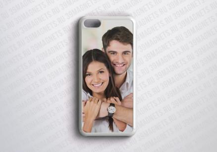 Чехол на Apple Iphone 5c с фото и надписью на заказ