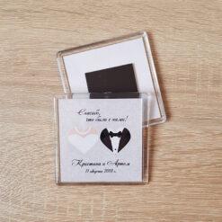Акриловый свадебный магнит