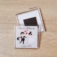 Фото свадебных магнитиков для гостей