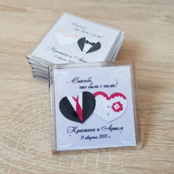 Акриловый магнит на свадьбу для гостей