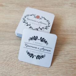 Мягкие виниловые магнитики на свадьбу для гостей в стиле лофт