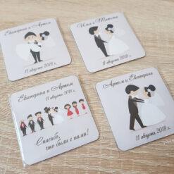 Виниловые свадебные магнитики с доставкой по всей России