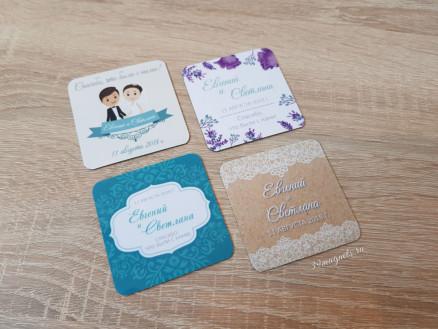 Виниловые свадебные магниты на подарки гостям