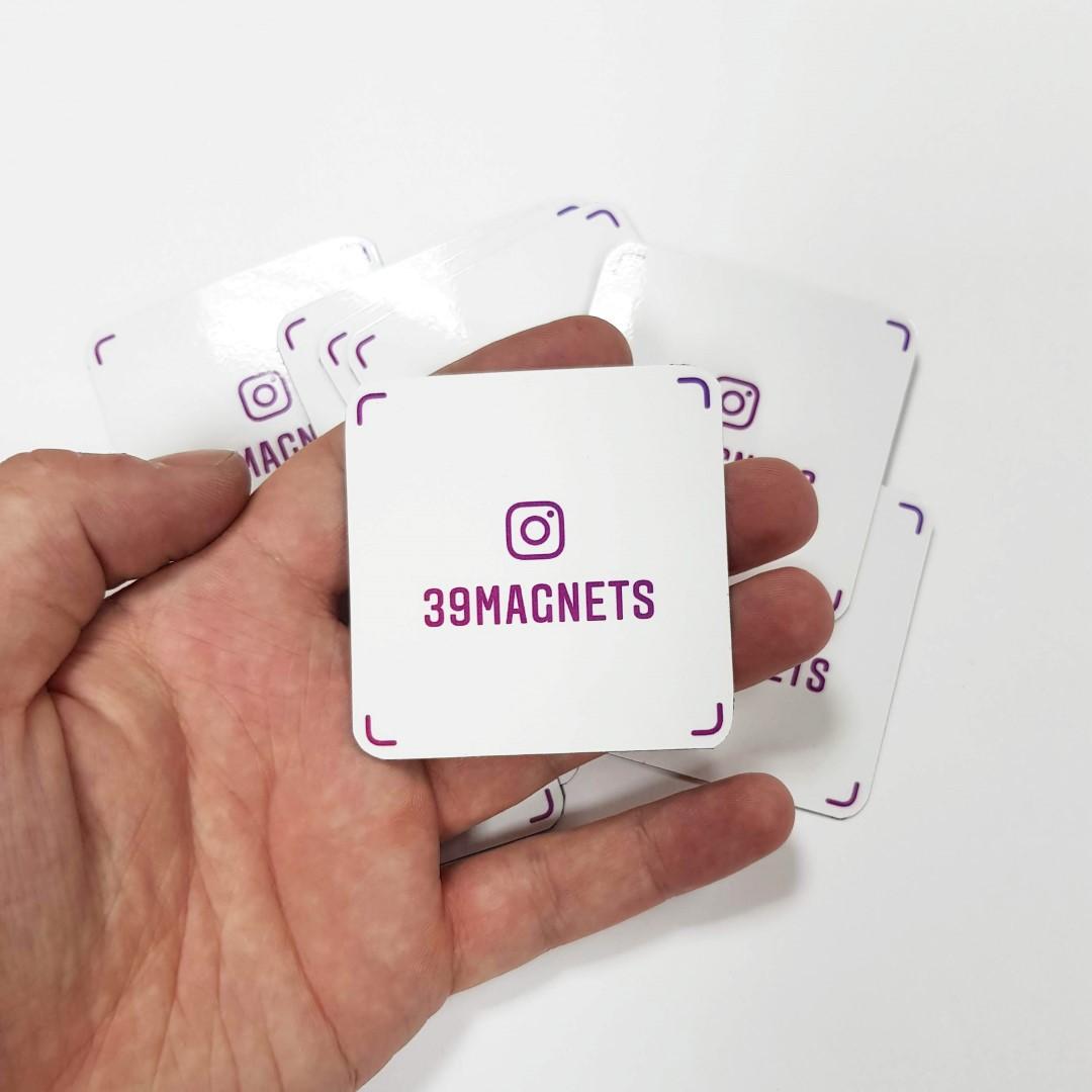 Магниты с Instagram-визиткой