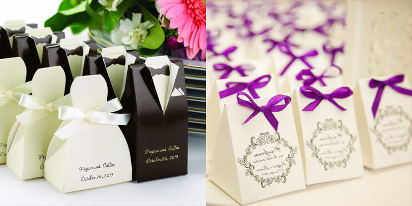 Подарки гостям на свадьбу: бонбоньерки