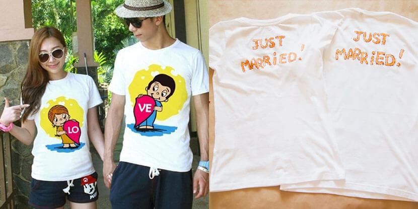 Подарки гостям на свадьбу: футболки