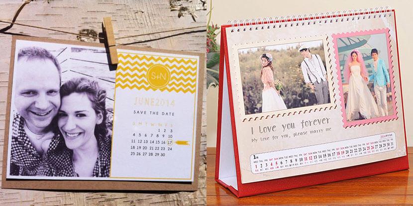 Подарки гостям на свадьбу: календарик