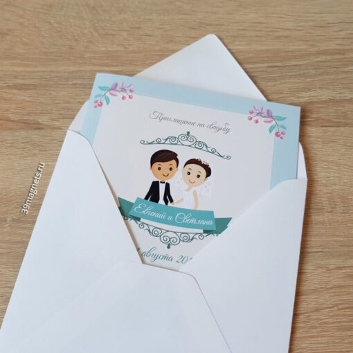 пригласительные на свадьбу на заказ