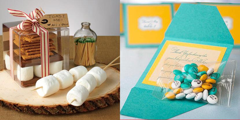 Подарки гостям на свадьбу: конфеты или сладости