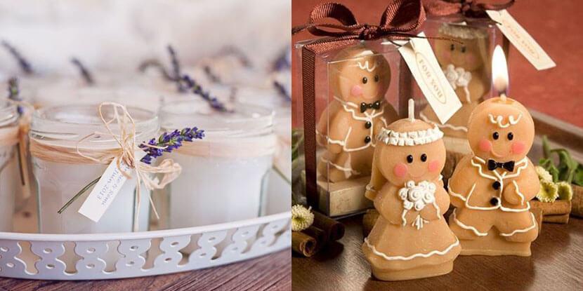 Подарки гостям на свадьбу: ароматизированные свечи