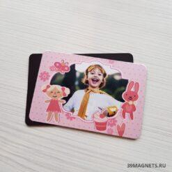 Детский магнит розовый