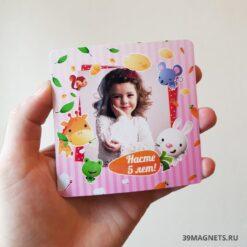 Магнит с фото ребенка на заказ