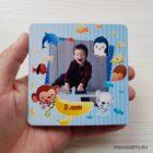 Детский виниловый магнит с фото