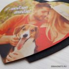 Коврик для мыши с фото или картинкой в виде сердца