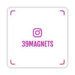 Магнит instagram-визитка фиолетовый
