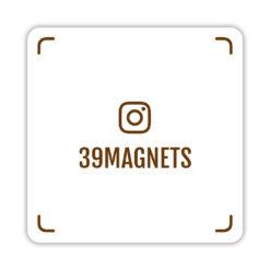 Магнит instagram-визитка коричневый