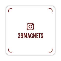 Магнит instagram-визитка красный