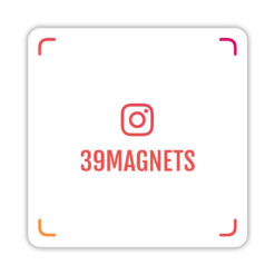 Магнит instagram-визитка красно-оранжевый