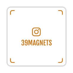 Магнит instagram-визитка оранжевый