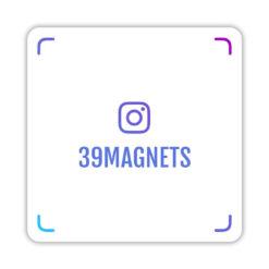 Магнит instagram-визитка синий