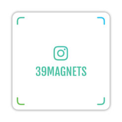 Магнит instagram-визитка зеленый