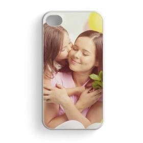 Чехол для iPhone 4 и 4S, пластиковый, белый