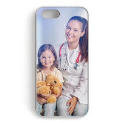 Чехол для iPhone 5, 5S и SE, пластиковый, белый