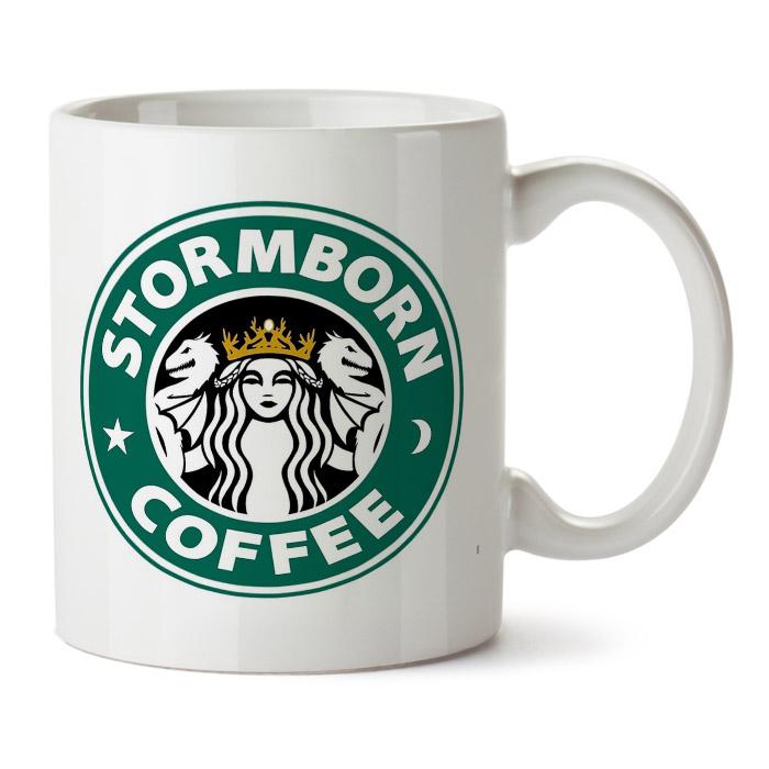 "Кружка белая ""Stormborn coffee"""