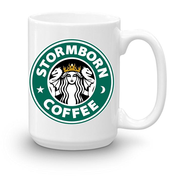"""Кружка увеличенной емкости """"Stormborn coffee"""""""