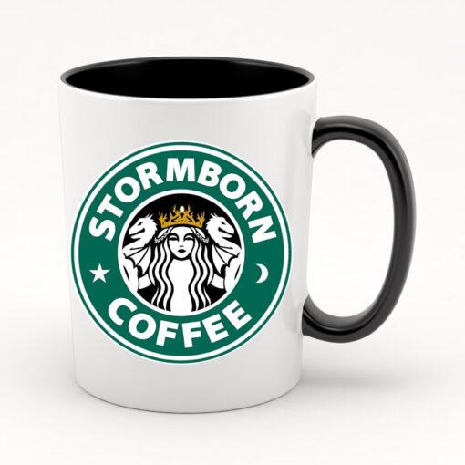 """Кружка черная внутри """"Stormborn coffee"""""""
