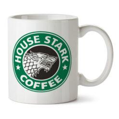 Кружка белая House Stark coffee