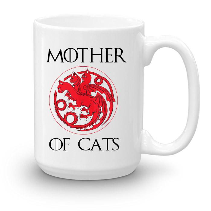 Кружка увеличенной емкости Mother of cats