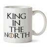 "Кружка белая ""King in the North"""