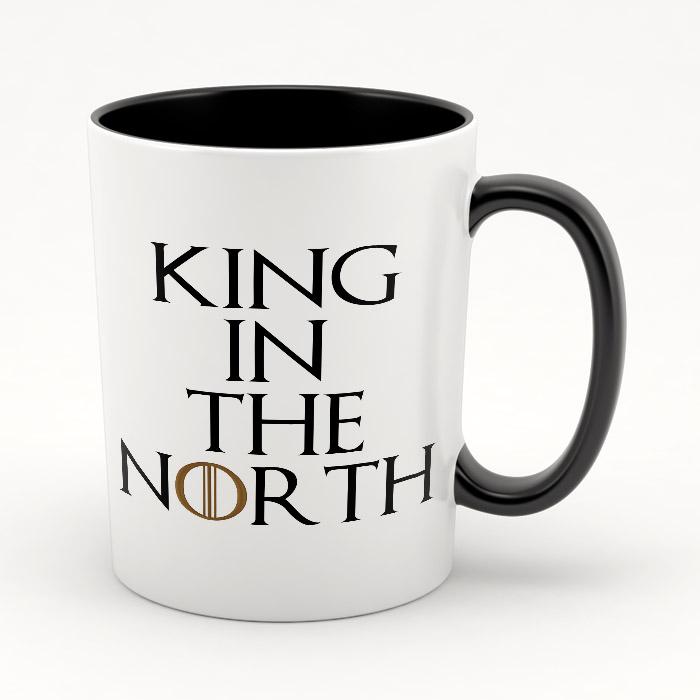 """Кружка черная внутри """"King in the North"""""""