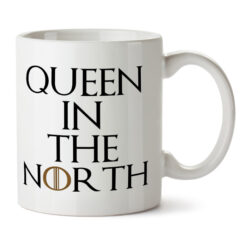 "Кружка белая ""Queen in the North"""