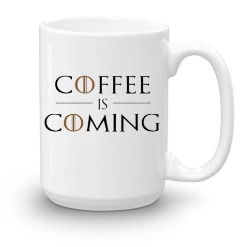 """Кружка увеличенной емкости """"Coffee is coming"""""""