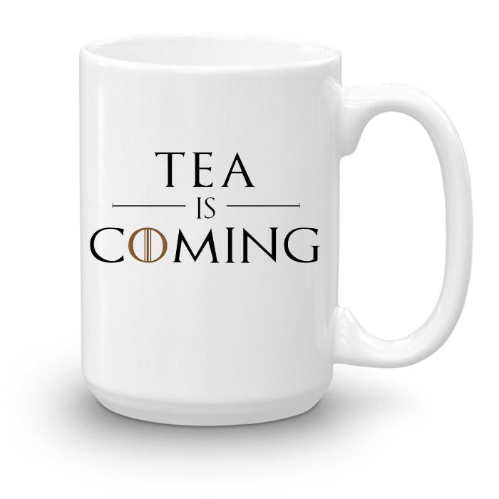 """Кружка увеличенной емкости """"Tea is coming"""""""