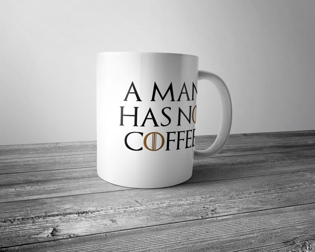 "Кружка ""A man has no coffee"""