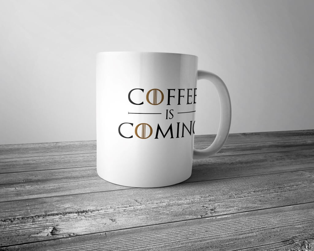 "Кружка ""Coffee is coming"""