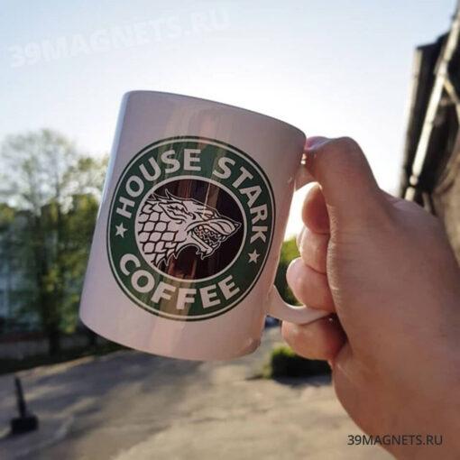 "Кружка ""House Stark coffee"""