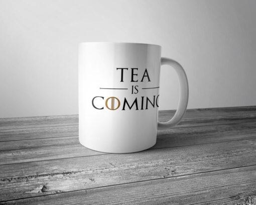 "Кружка ""Tea is coming"""