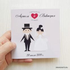 Приглашение на свадьбу «Молодожены»