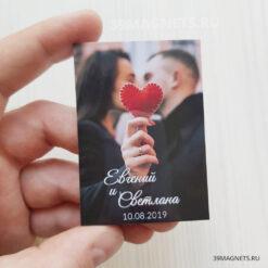 Свадебный магнит с фото и крупными именами